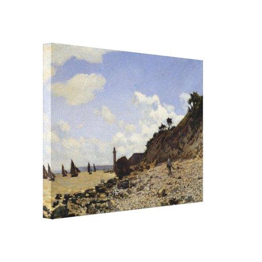 Seaside at Honfleur - Claude Monet Stretched Canvas Print