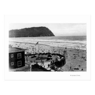 Seaside Beach and Promenade Photograph Postcard