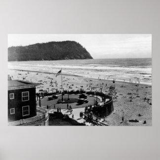 Seaside Beach and Promenade Photograph Poster