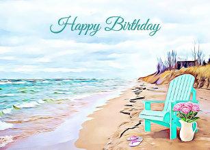 happy birthday beach scene Beach Scene Birthday Cards | Zazzle happy birthday beach scene