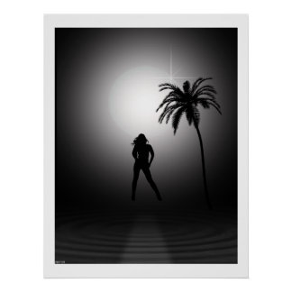 Seaside Beauty At Night Poster
