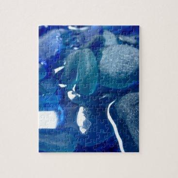 LHSeaglass Seaside Blue Sea Glass Jigsaw Puzzle