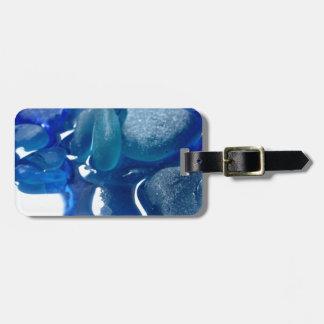 Seaside Blue Sea Glass Bag Tag