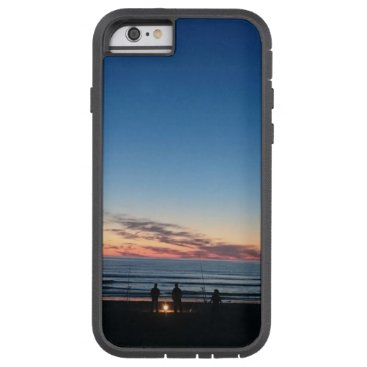 Beach Themed Seaside blue sky sunset. Night fishing Tough Xtreme iPhone 6 Case