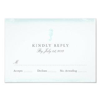 Seaside Blue Wedding RSVP Card