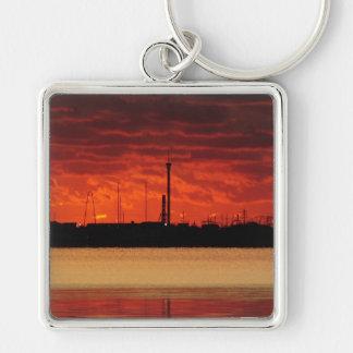 Seaside Burning Keychain