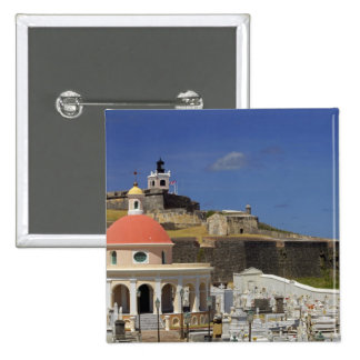 Seaside cemetery of Puerto Rico 2 Inch Square Button