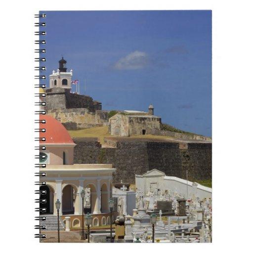 Seaside cemetery of Puerto Rico Spiral Notebook