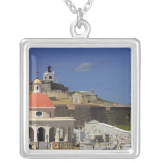 Seaside cemetery of Puerto Rico Silver Plated Necklace