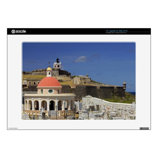 """Seaside cemetery of Puerto Rico Decal For 15"""" Laptop"""