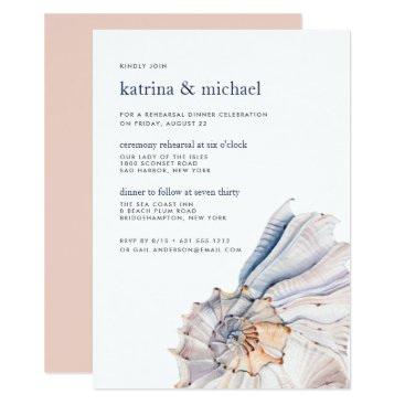 Beach Themed Seaside | Ceremony Rehearsal Dinner Invitation