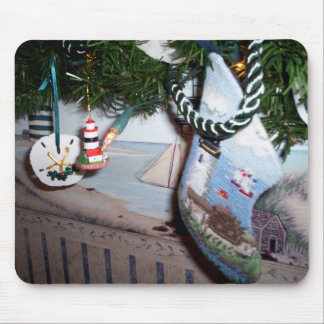 Seaside Christmas Mouse Pad