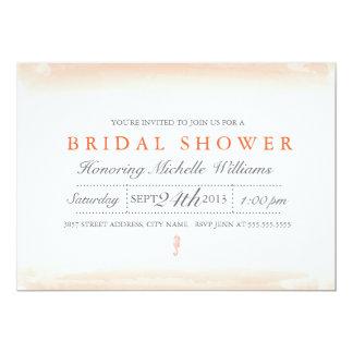 Seaside Coral Bridal Shower Invitation