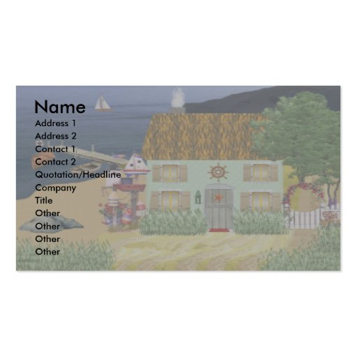 Seaside Cottage Business Cards