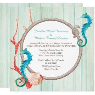 Seaside Cottage Chic Wedding Invitation