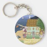 Seaside Cottage Keychain