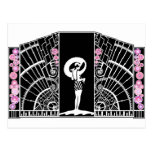 Seaside Deco in Black and Pink Postcards