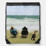 Seaside Drawstring Backpacks