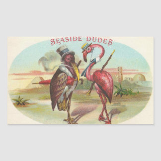 Seaside Dudes Rectangular Sticker
