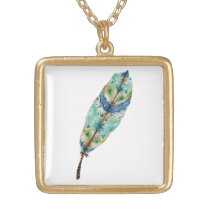 Seaside Feather Necklace