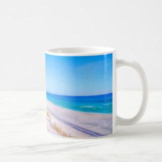 Seaside Florida Scenic Beach Pastel Art Coffee Mug