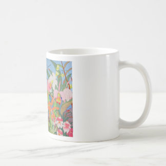 Seaside Flowers Japanese Woodblock Art Ukiyo-E Coffee Mug