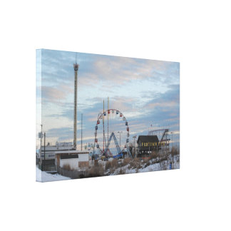 Seaside Funtown Pier Canvas Print