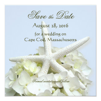 Seaside Garden Save the Date Square Photo Card