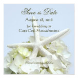 Seaside Garden Save the Date Square Photo Card Personalized Invitation