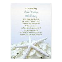 Garden party invitations announcements zazzle seaside garden starfish birthday party invitation stopboris Gallery