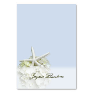 Seaside Garden Tented Place Card Name Template