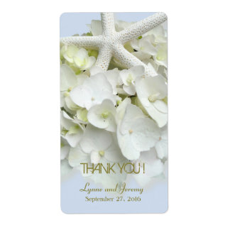 Seaside Garden Thank You Personalized Wine Label Shipping Label