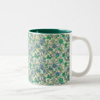 seaside garden Two-Tone coffee mug