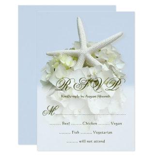 Seaside Garden Wedding 5 choice menu RSVP Card