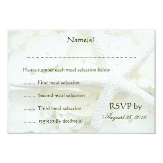 Seaside Garden Wedding Menu Reply Cards