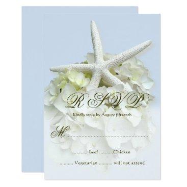 Beach Themed Seaside Garden Wedding Menu Reply Enclosure Card