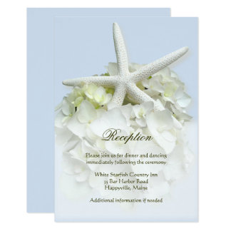 Seaside Garden Wedding Reception Card