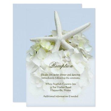 Beach Themed Seaside Garden Wedding Reception Card