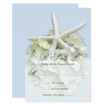 Beach Themed Seaside Garden Wedding Reply Enclosure Card