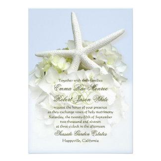 Seaside Garden White Floral Wedding Invitation