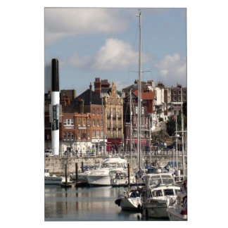 Seaside Harbour And Sailing Boats Dry-Erase Board