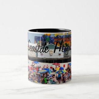 Seaside Heaights beach Two-Tone Coffee Mug