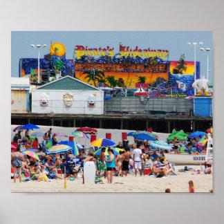 Seaside Heights Beach & Casino Pier Poster