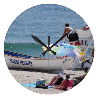 Seaside Heights beach time Large Clock