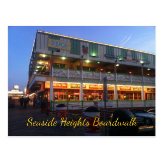 Seaside Heights Boardwalk Spicy's Cantina Bar Postcard