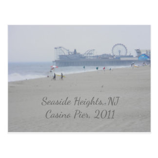 Seaside Heights Casino Pier Beach Boardwalk Postcard