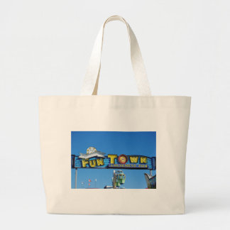 Seaside Heights Funtown Pier Large Tote Bag