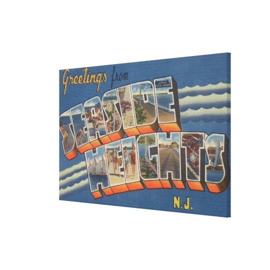 Seaside Heights, New Jersey - Large Letter Scene Canvas Print