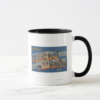 Seaside Heights, New Jersey - Large Letter Scene Mug