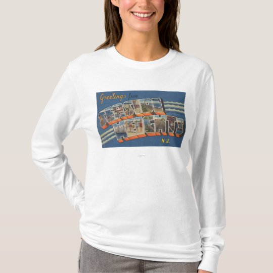 Seaside Heights, New Jersey - Large Letter Scene T-Shirt